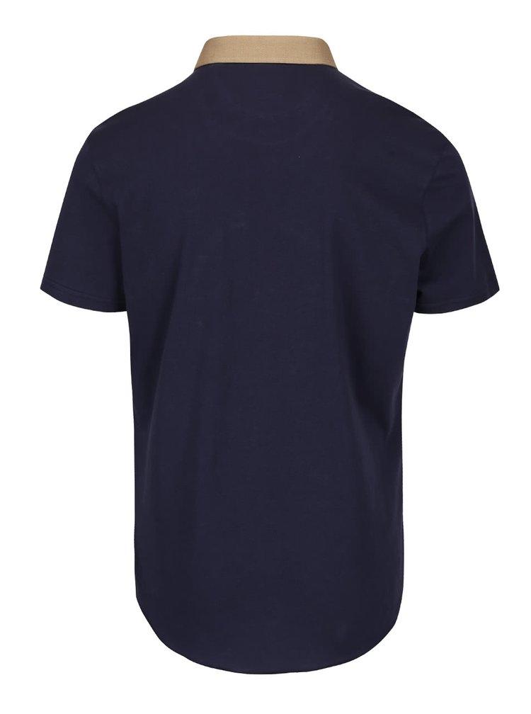 Cămașă bleumarin Burton Menswear cu mâneci scurte