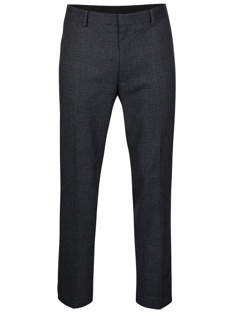 Tmavosivé kockované nohavice Burton Menswear London