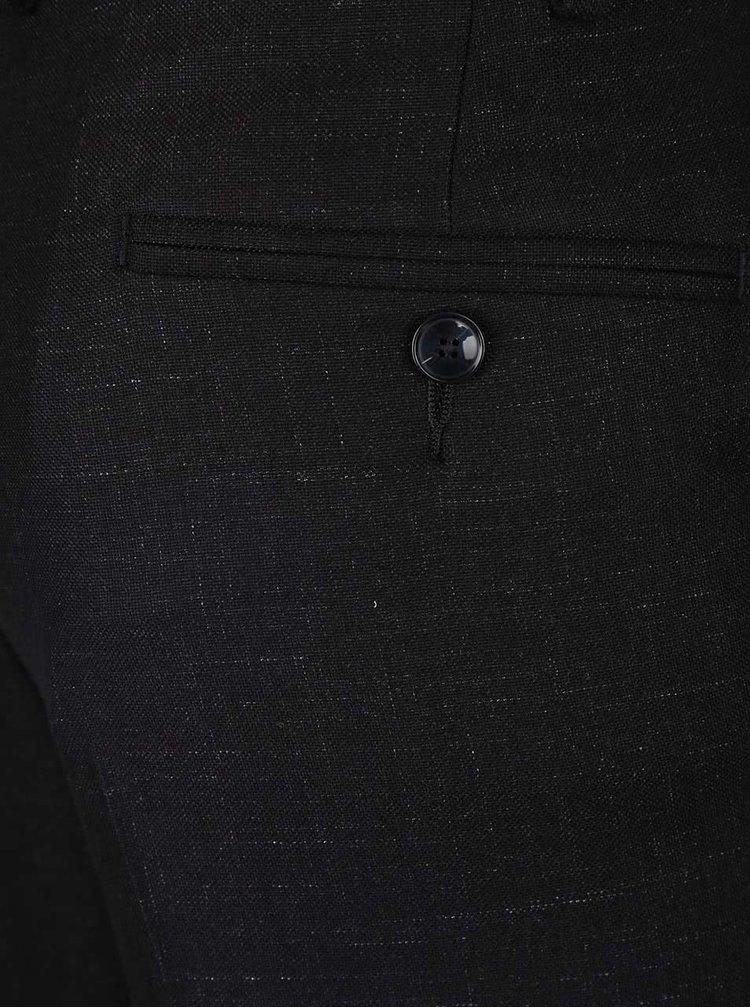 Černé žíhané skinny fit kalhoty Burton Menswear London