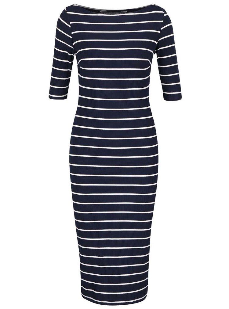 Tmavě modré pruhované šaty Dorothy Perkins