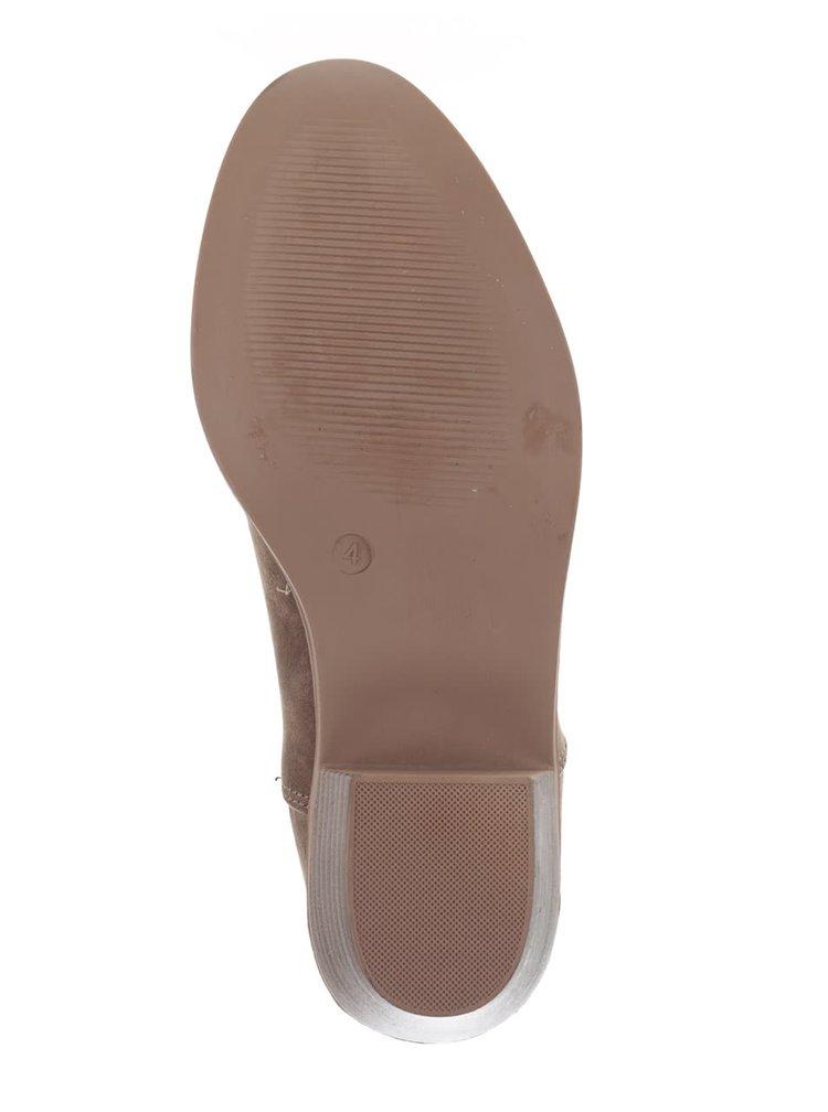 Svetlohnedé chelsea topánky v semišovej úprave Dorothy Perkins
