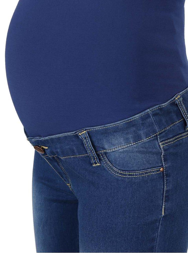 Modré těhotenské jeggins Dorothy Perkins Maternity