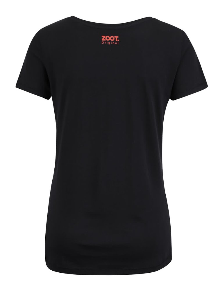 Tricou negru ZOOT Original Hamburger din bumbac pentru femei