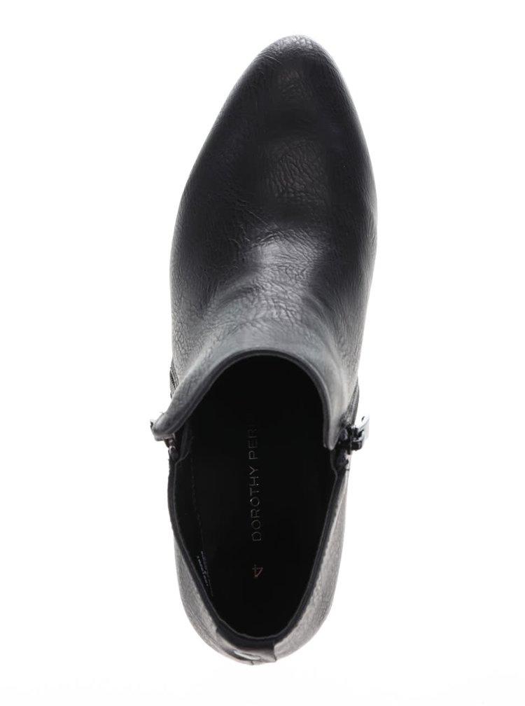 Černé kotníkové boty na zip Dorothy Perkins