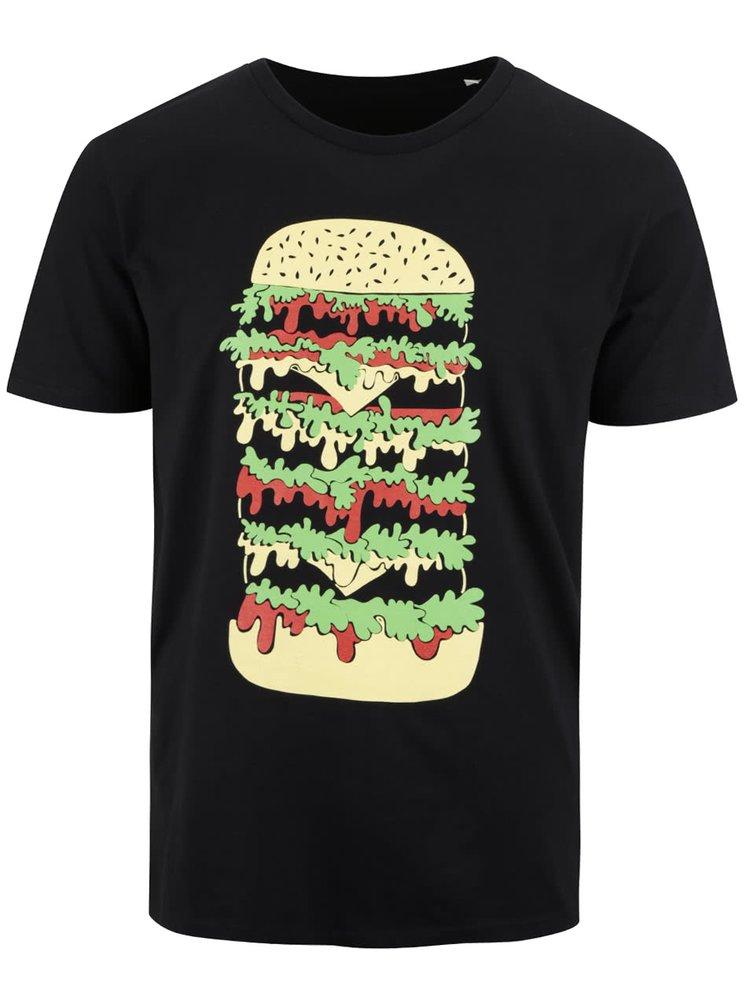 Černé pánské triko ZOOT Originál Hamburger