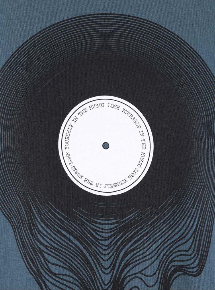 Tricou albastru petrol ZOOT Original Vinyl din bumbac