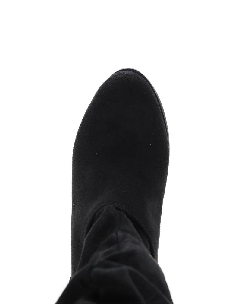 Čierne nízke čižmy v semišovej úprave Dorothy Perkins