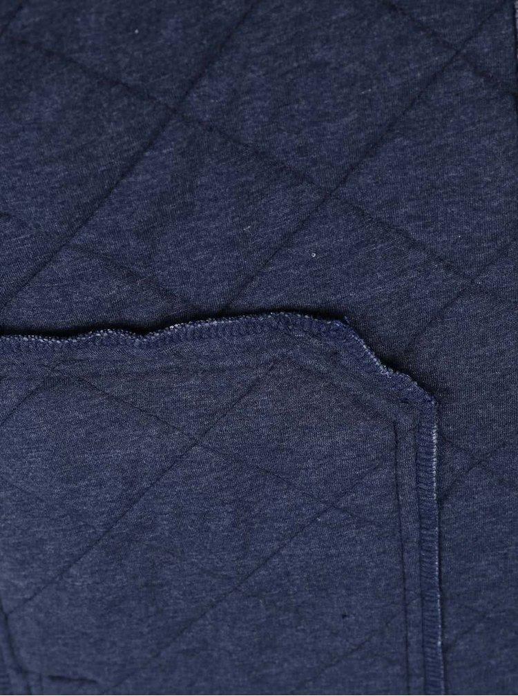 Tmavě modrá žíhaná bomber mikina na zip Blend