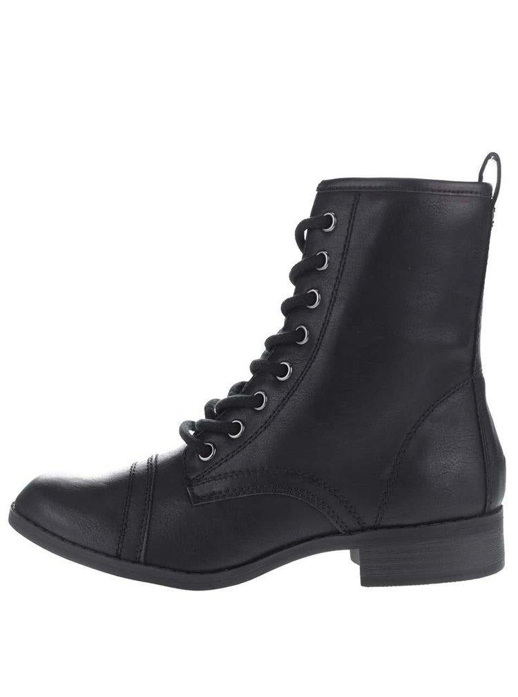 Černé kotníkové boty na šněrování Dorothy Perkins