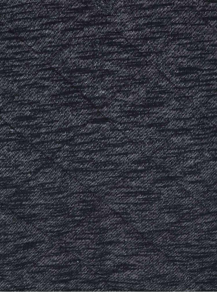 Černá žíhaná prošívaná mikina Blend