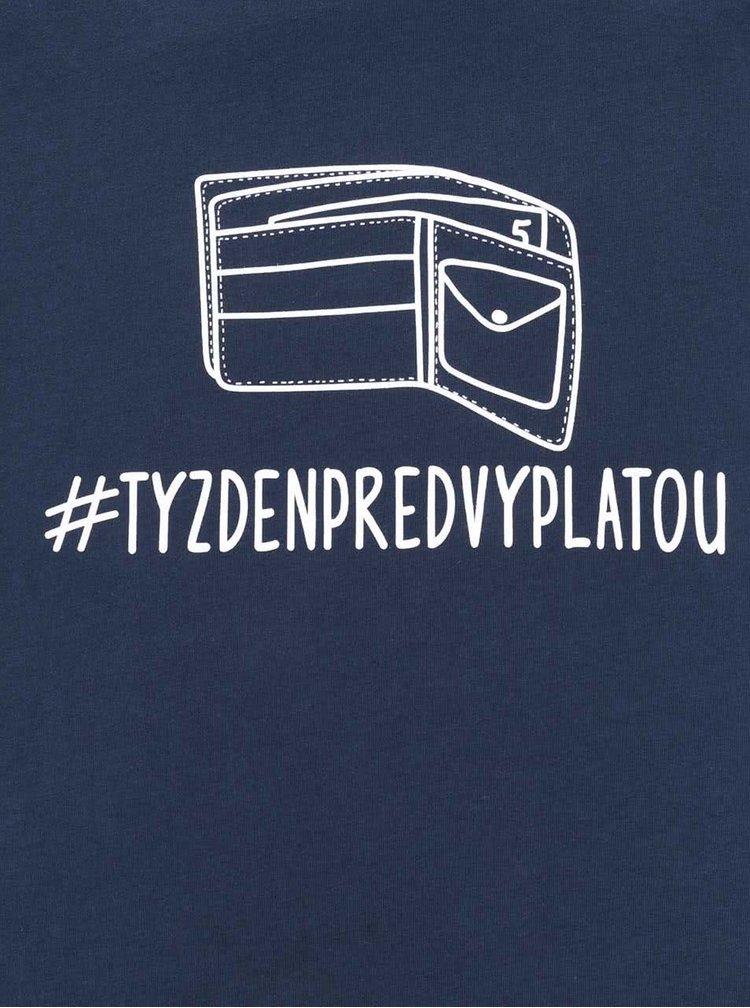 Tmavomodré pánske tričko ZOOT Originál Týždeň pred výplatou