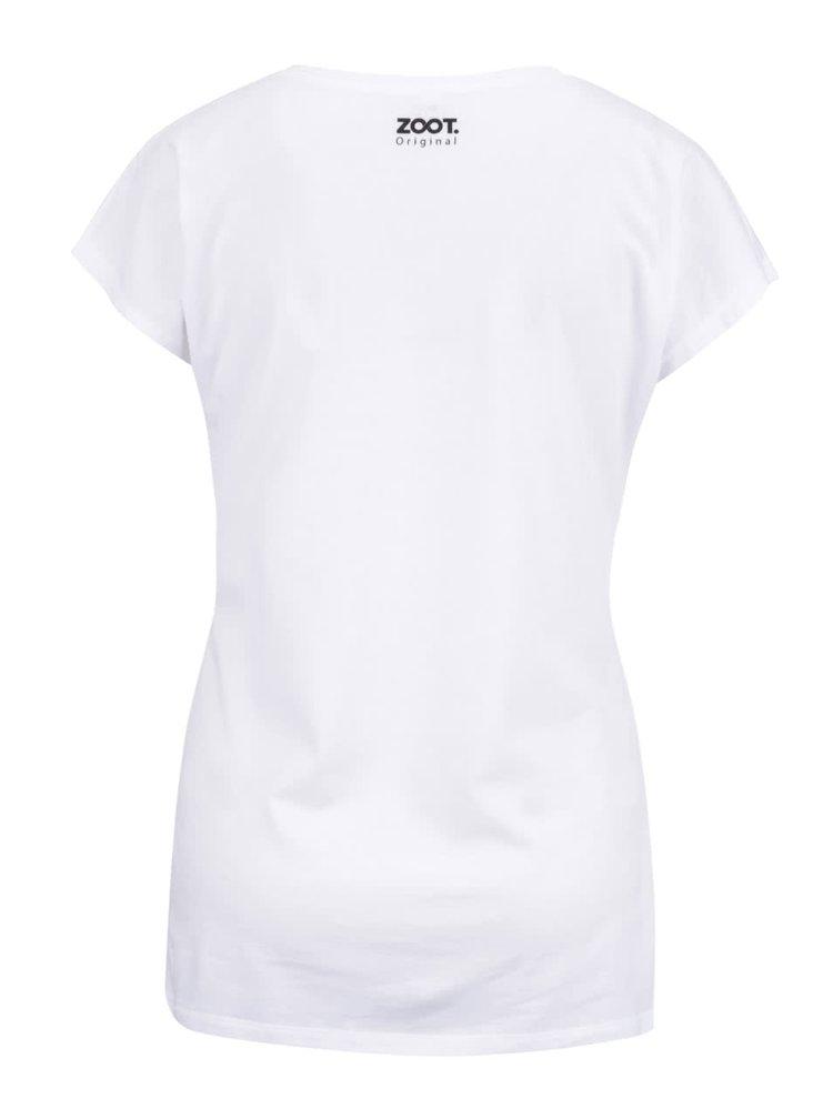Tricou alb ZOOT Original Fuck Normality din bumbac pentru femei