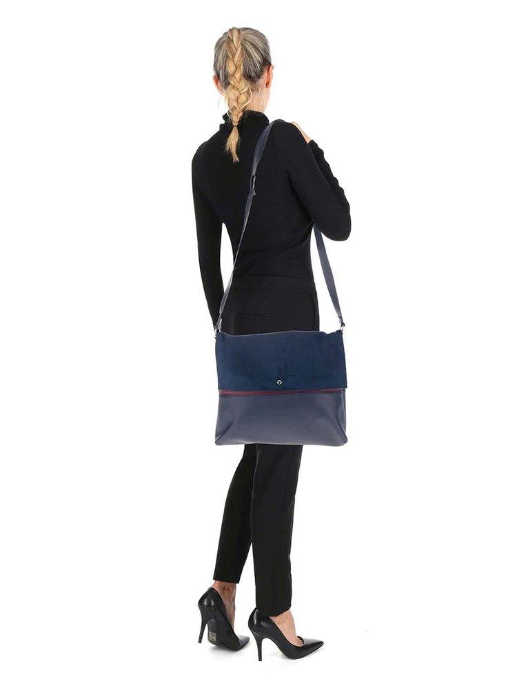 Tmavě modrá kabelka s klopou v semišové úpravě Dorothy Perkins