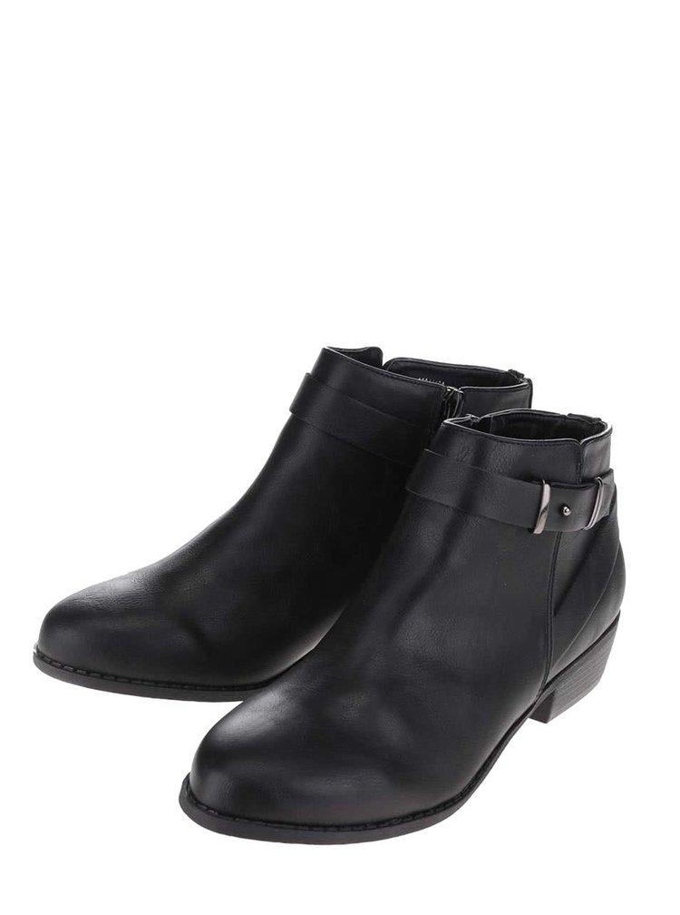 Čierne členkové topánky s remienkami Dorothy Perkins