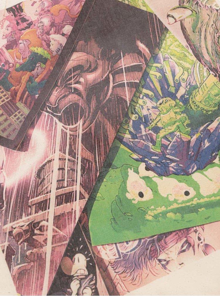 Béžová unisex plátěná taška ZOOT Original Komiksy