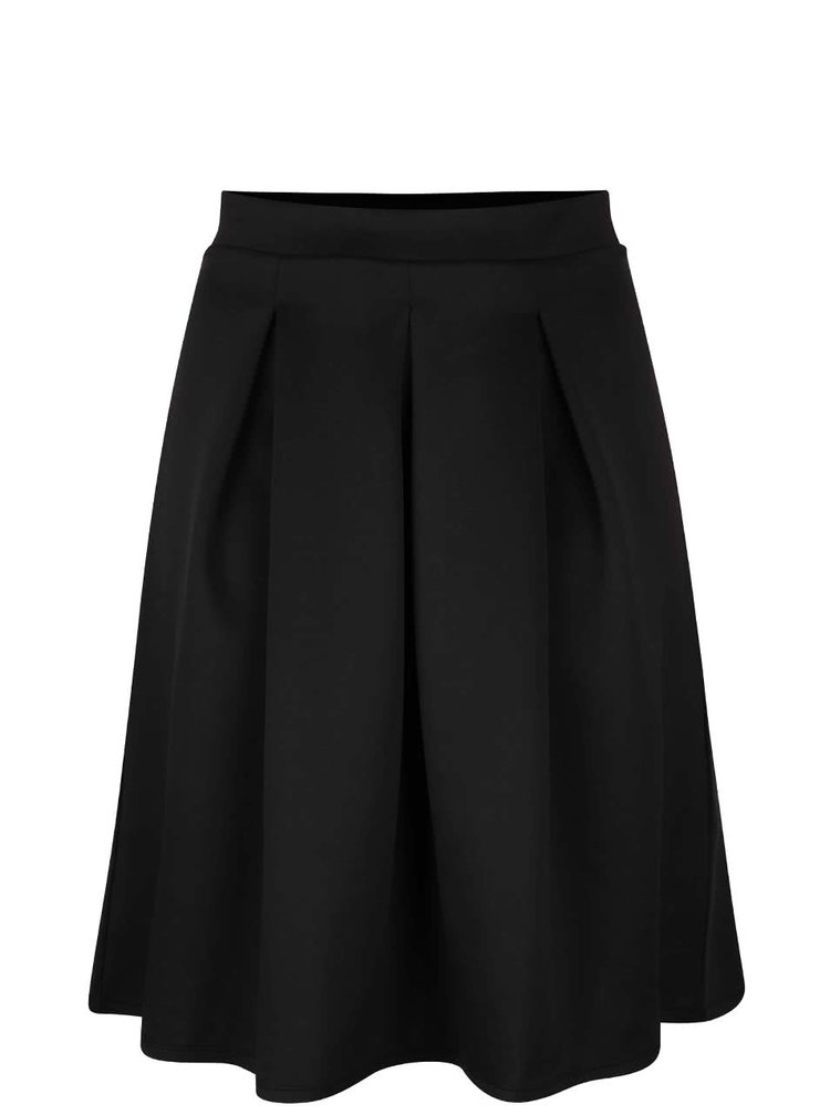Černá skládaná sukně Dorothy Perkins Curve
