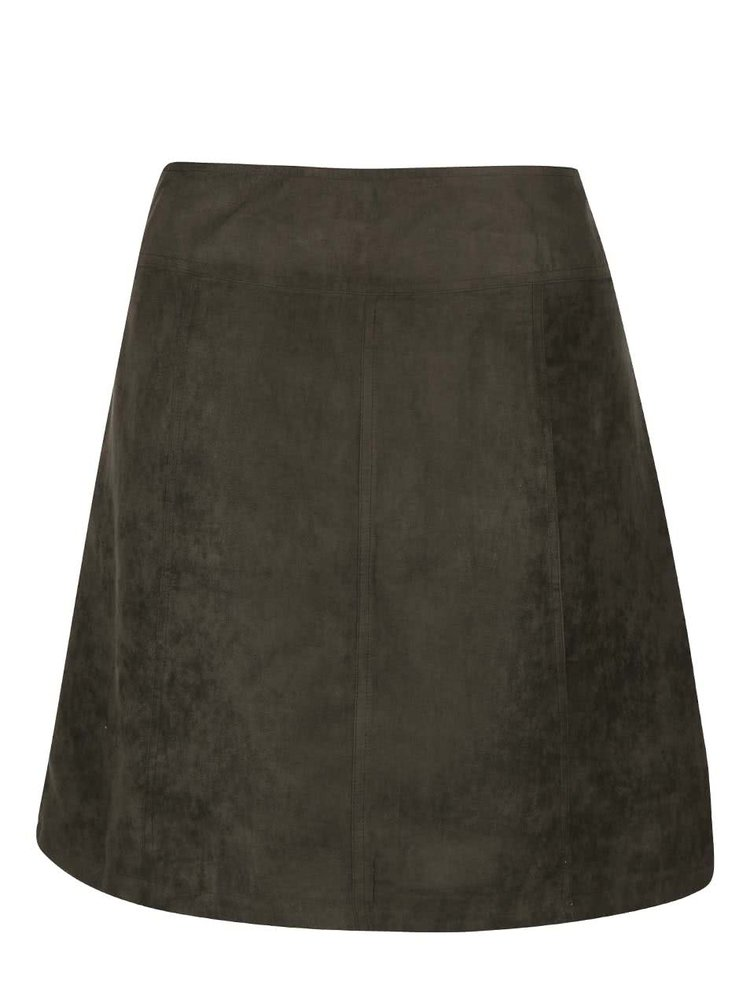 Khaki sukňa na gombíky Dorothy Perkins Curve