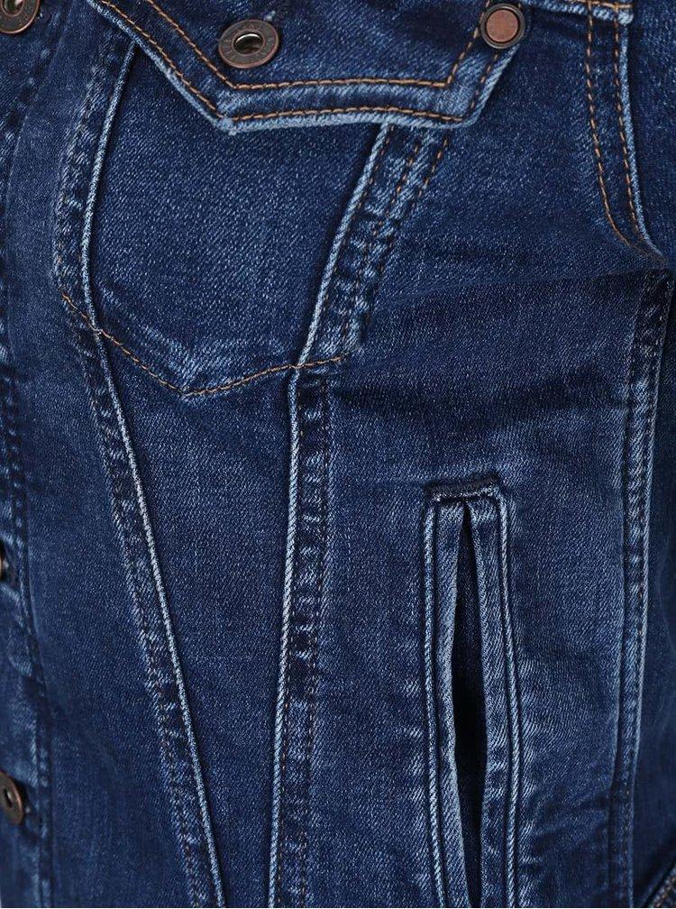 Geacă albastră Pepe Jeans din denim