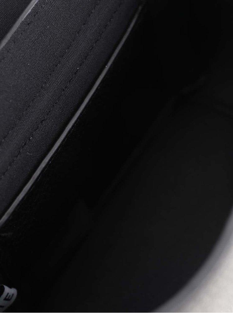Geanta crossbody neagra Pieces Dacio cu aplicatii aurii