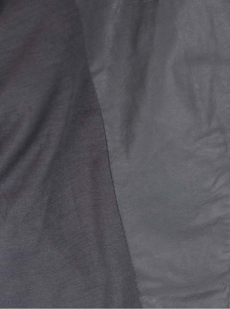 Tmavě šedý koženkový křivák YAYA
