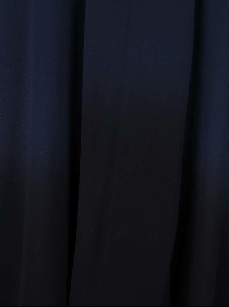 Tmavě modrá halenka s ombré efektem a vázankou YAYA