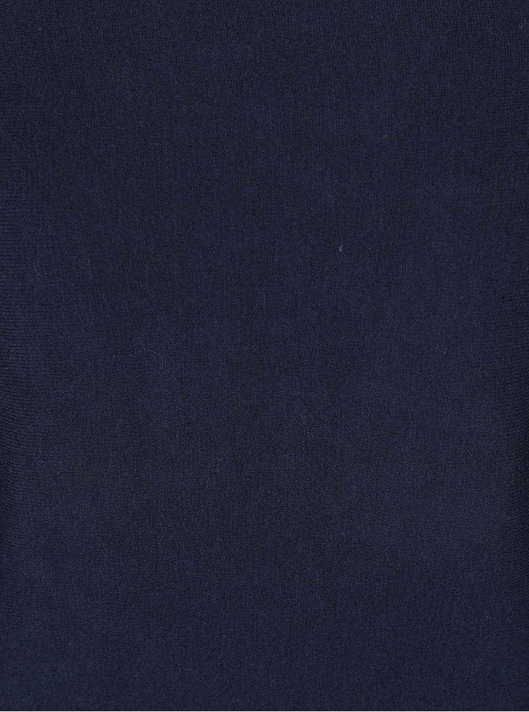 Tmavomodrý ľahký sveter s kimonovými rukávmi YAYA