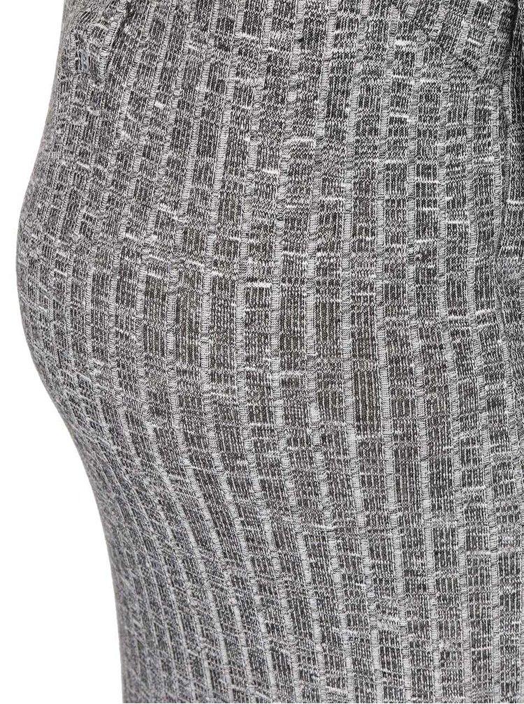 Rochie din tricot Mama.licious Riban gri melanj