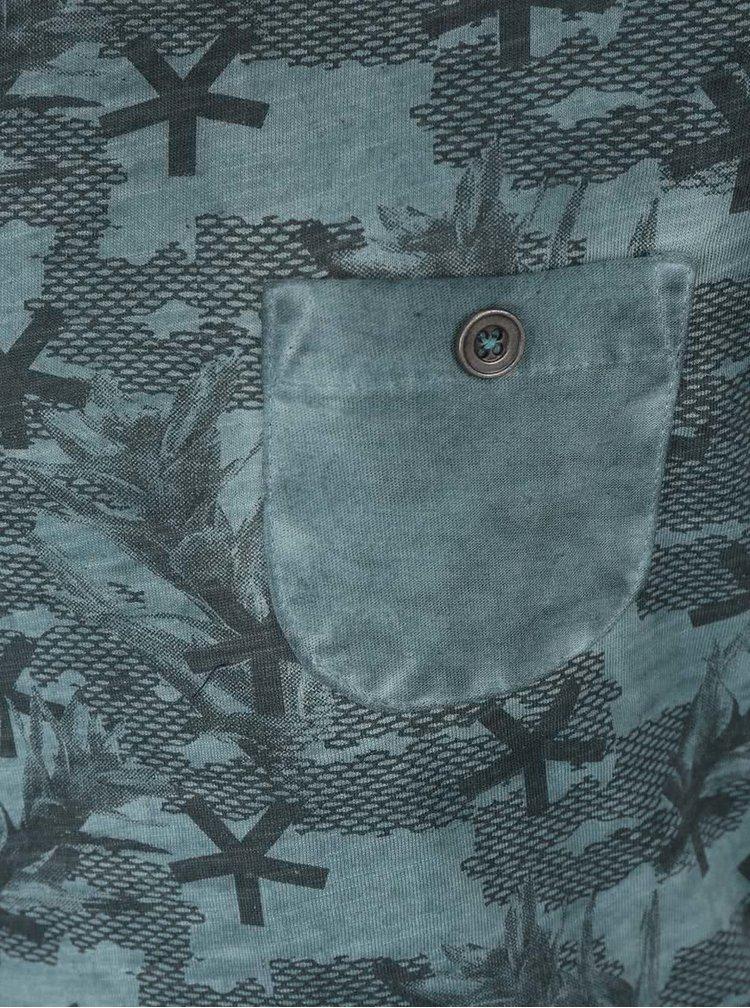 Tmavě zelené klučičí triko se vzorem Cars Jeans Barcio