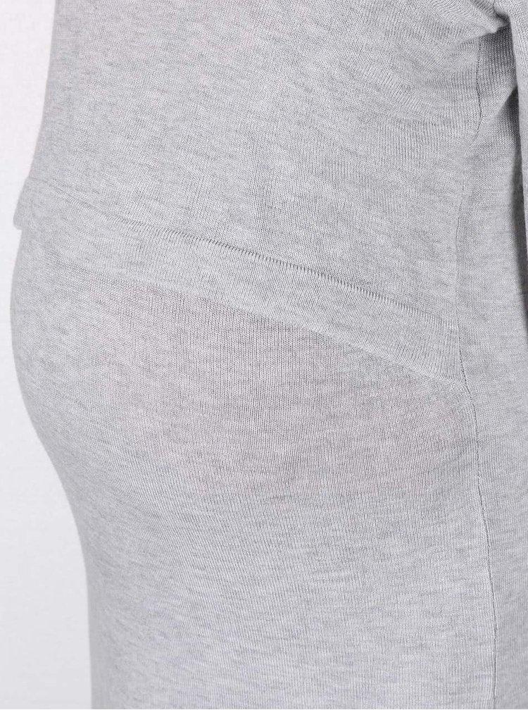 Svetlosivé tehotenské/kojace šaty Mama.licious Cosy