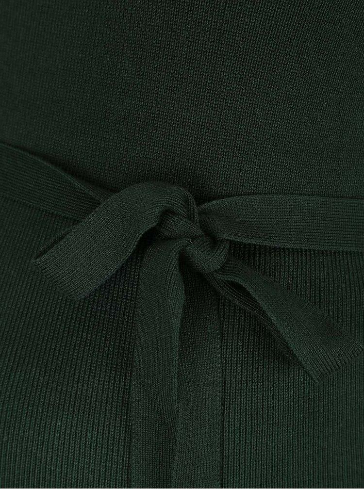 Zelené tehotenské šaty s dlhým rukávom Mama.licious Jacina