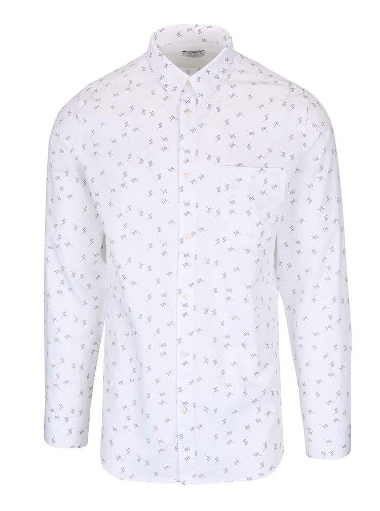 Bílá slim fit košile se vzorem Selected Homme One Karl