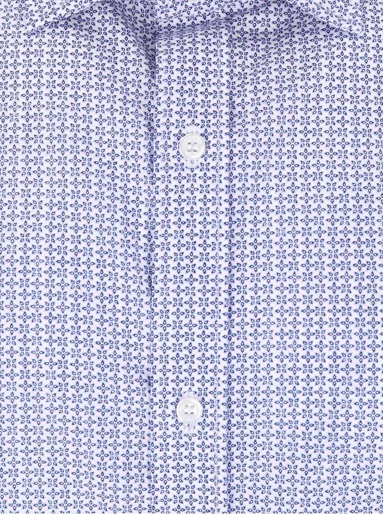 Camasa albastra Selected Homme Tim din bumbac cu model discret