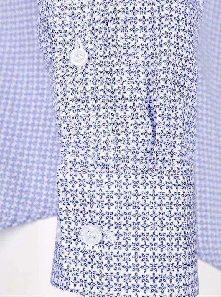 Modro-biela vzorovaná košeľa Selected Homme Tim