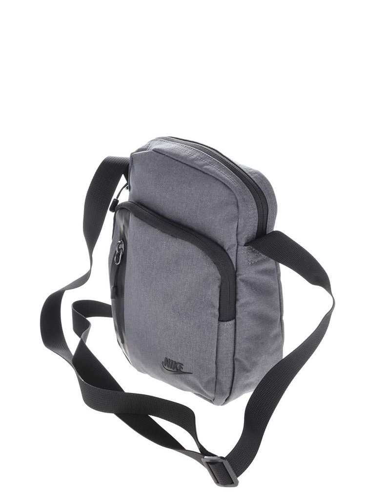 Geanta crossbody gri Nike Core Small cu model discret