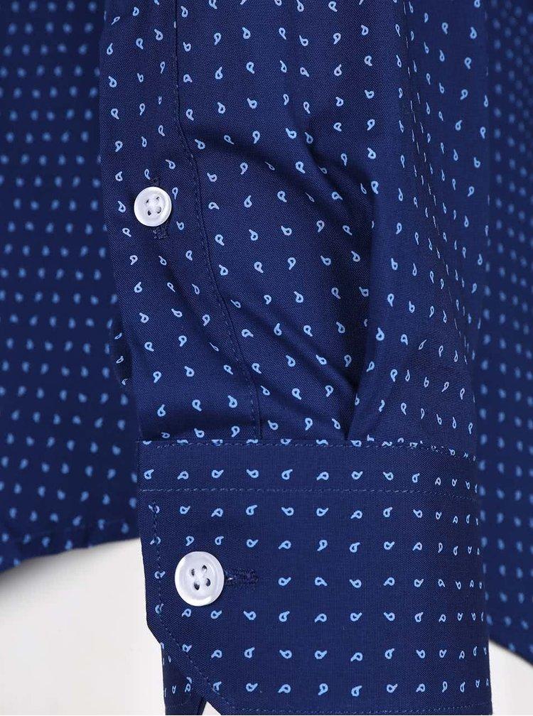 Tmavě modrá vzorovaná slim fit košile Selected Homme Pisa