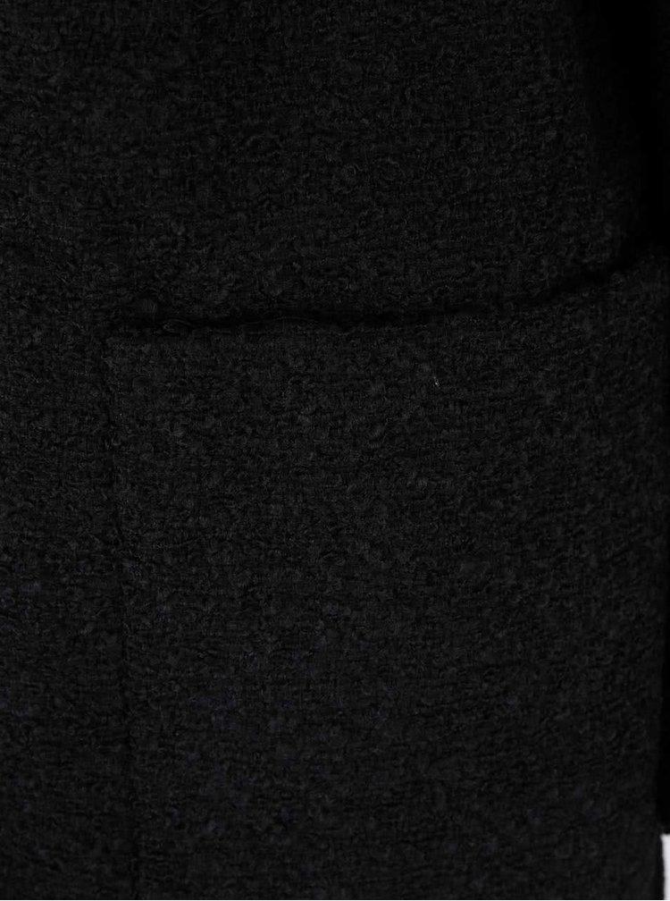 Palton negru VERO MODA Trudy cu buzunare mari
