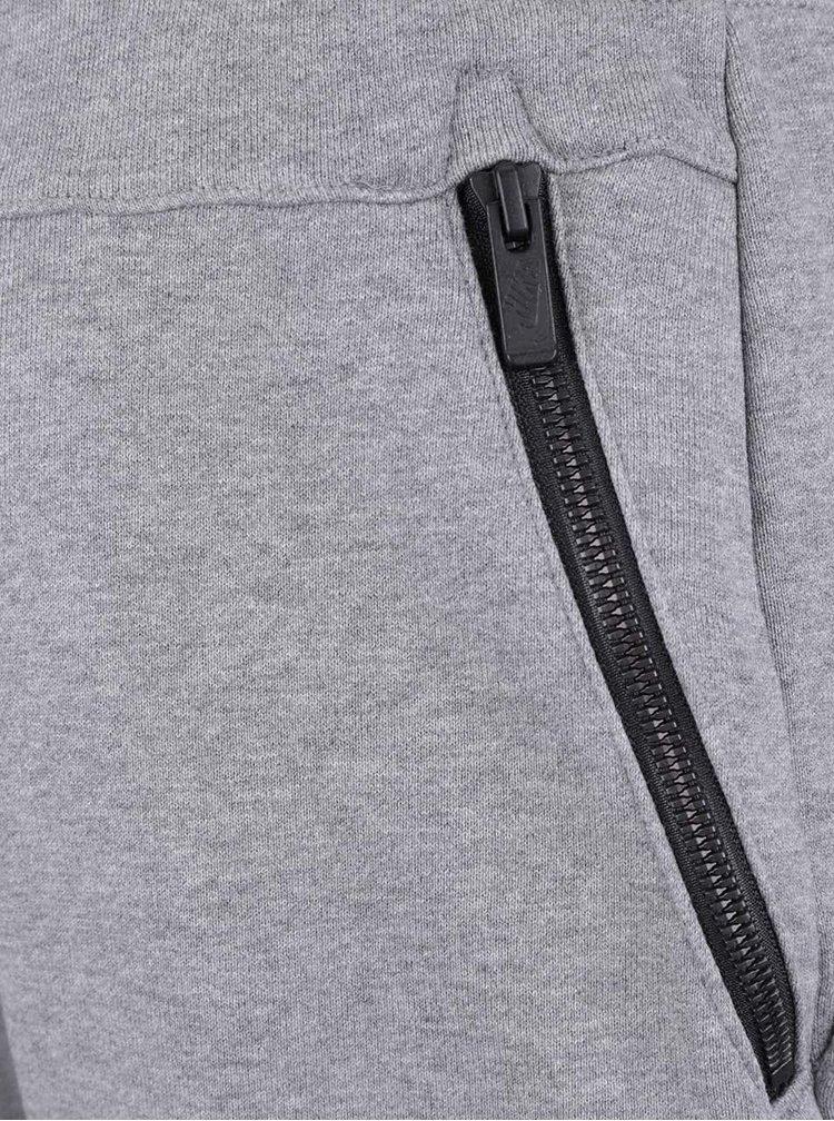 Šedé pánské teplákové kraťasy Nike Modern