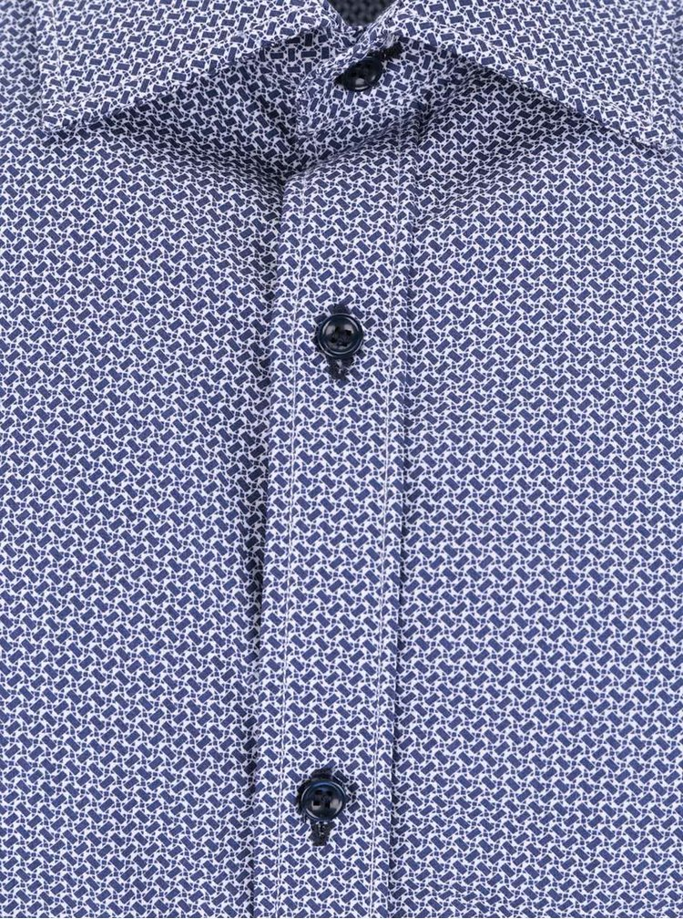Tmavě modrá vzorovaná košile Selected Homme Tim