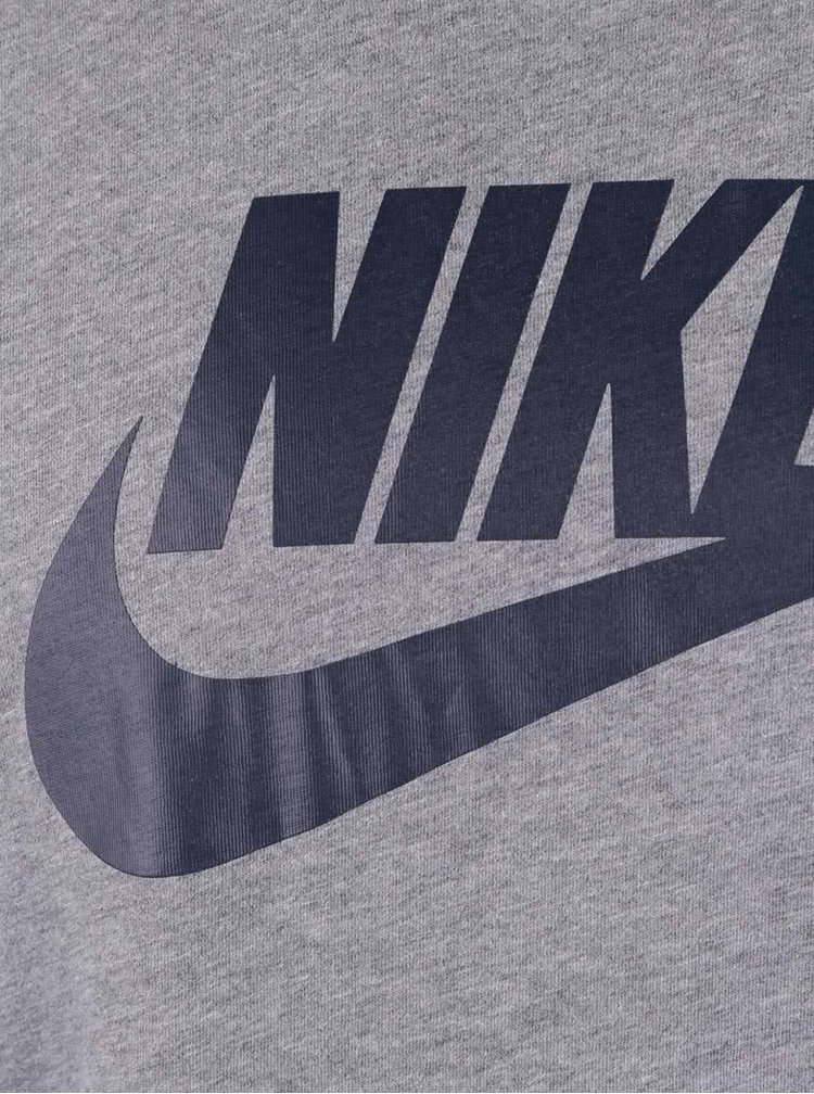 Šedé pánské triko Nike Futura Icon