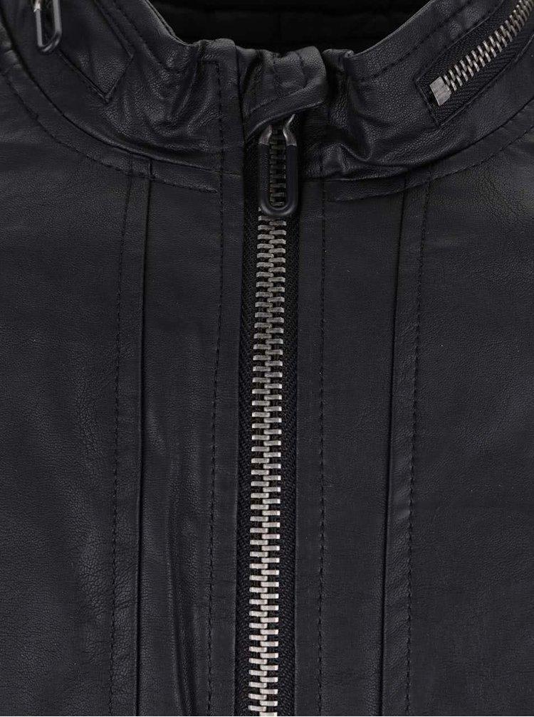 Jacheta neagra ONLY & SONS Leo din piele sintetica