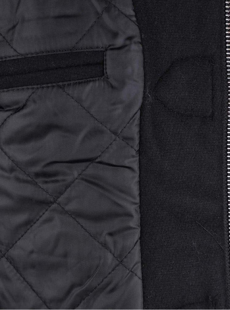 Palton negru ONLY & SONS Orville cu nasturi