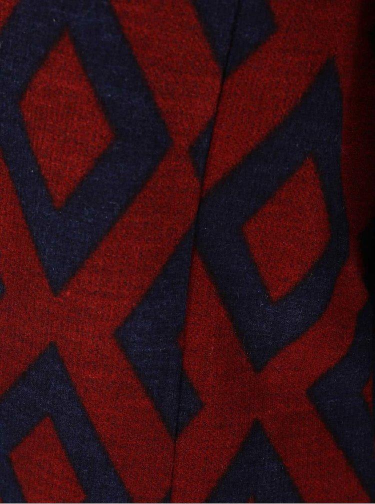 Modro-červený vzorovaný blejzer VERO MODA Allysa
