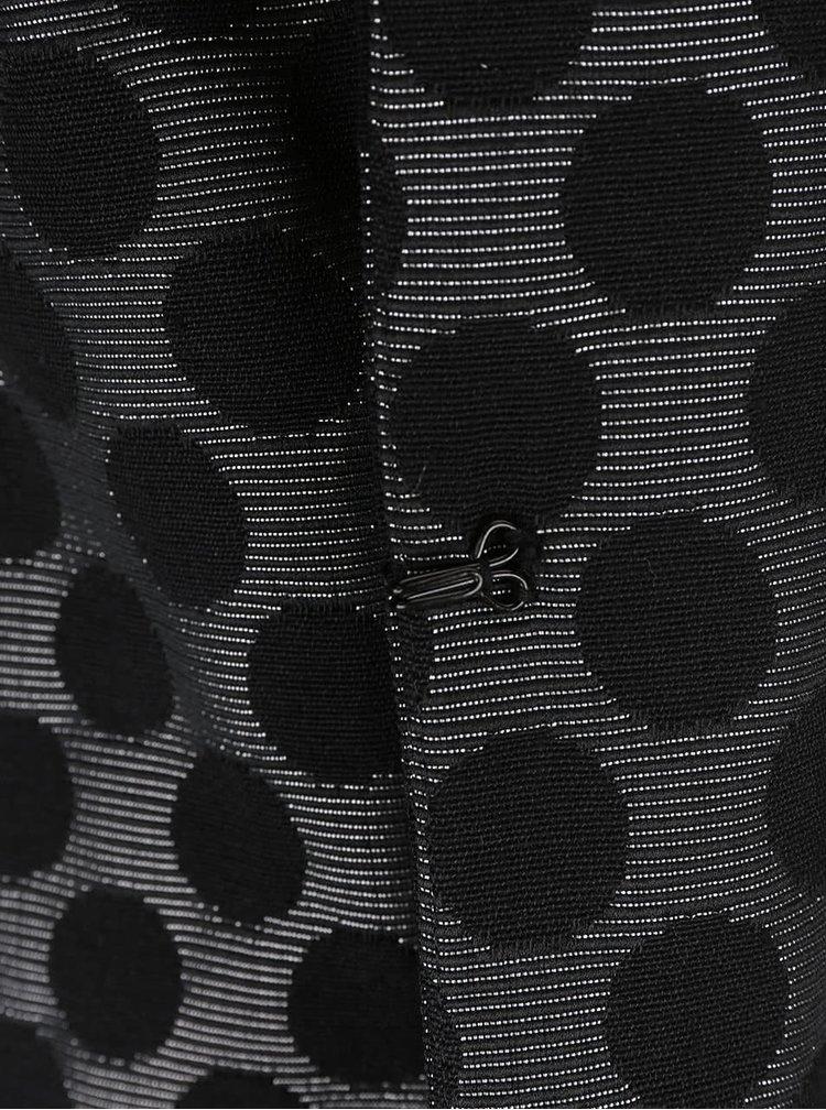 Černý puntíkovaný lehký kabát s 3/4 rukávy Alchymi Tarumi