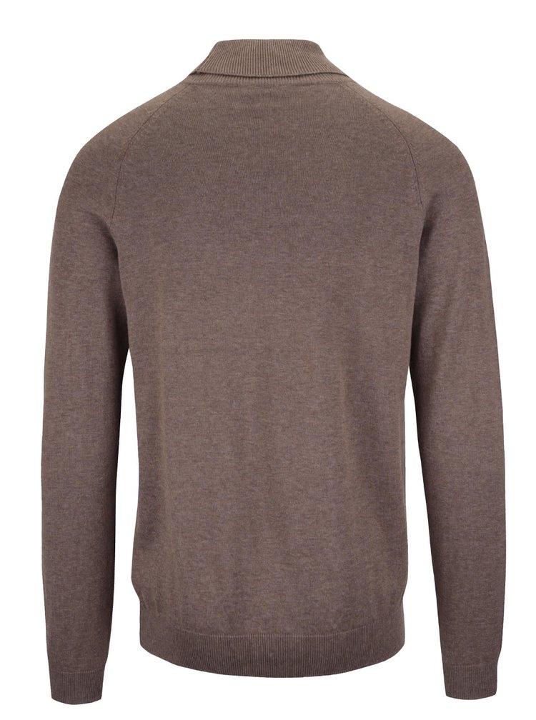 Hnedý sveter s rolákom Selected Homme Adam