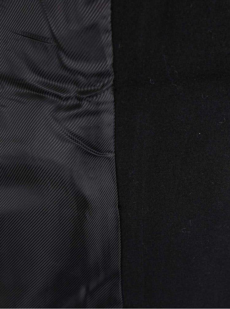 Černý dvouřadý kabát s detaily ve zlaté barvě VERO MODA Sweety
