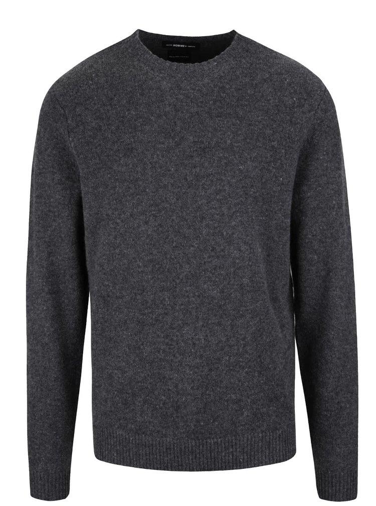 Šedý vlněný svetr Selected Homme Busk
