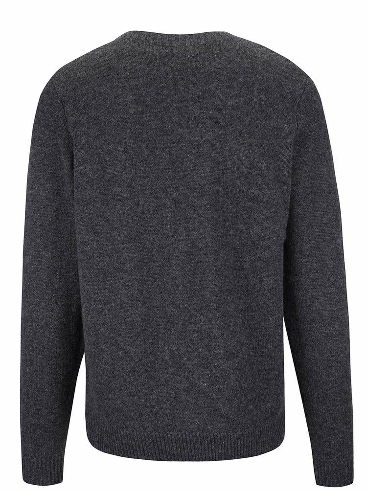 Sivý vlnený sveter Selected Homme Busk