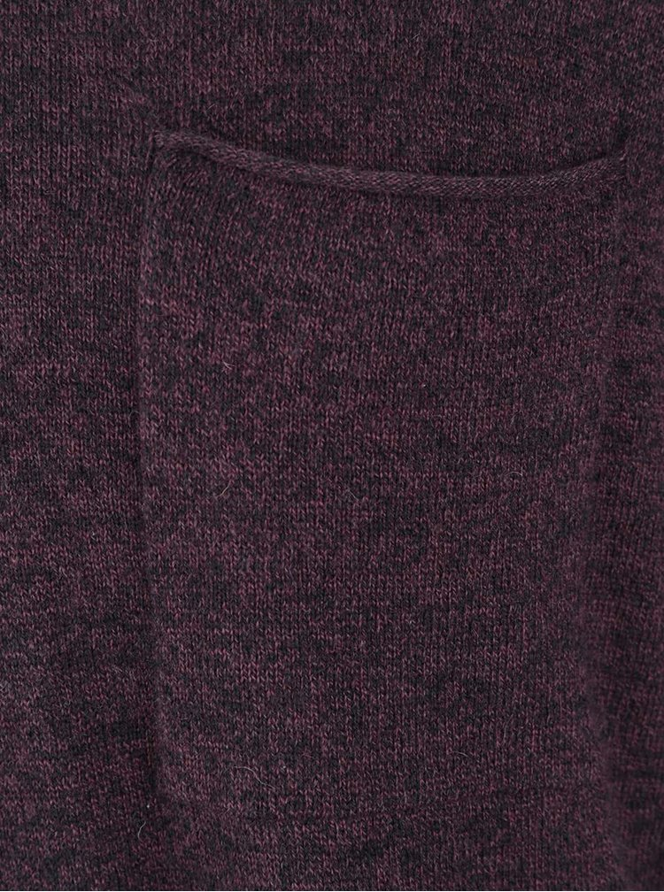 Pulover roșu burgundy Selected Homme Wilton