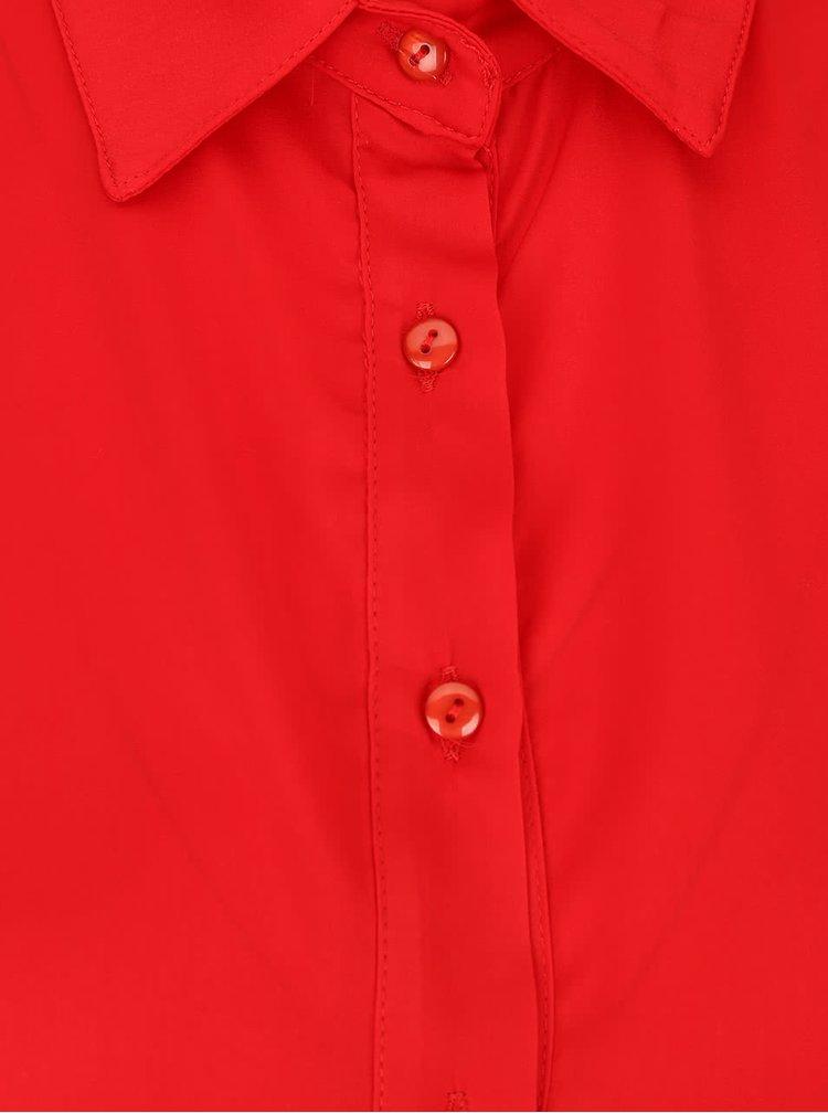 Červené volné košilové šaty s kapsami Alchymi Barbet