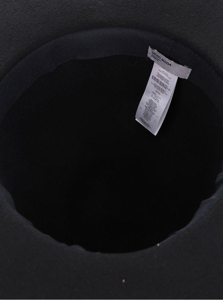 Pălărie neagră VERO MODA Kisser cu fundă
